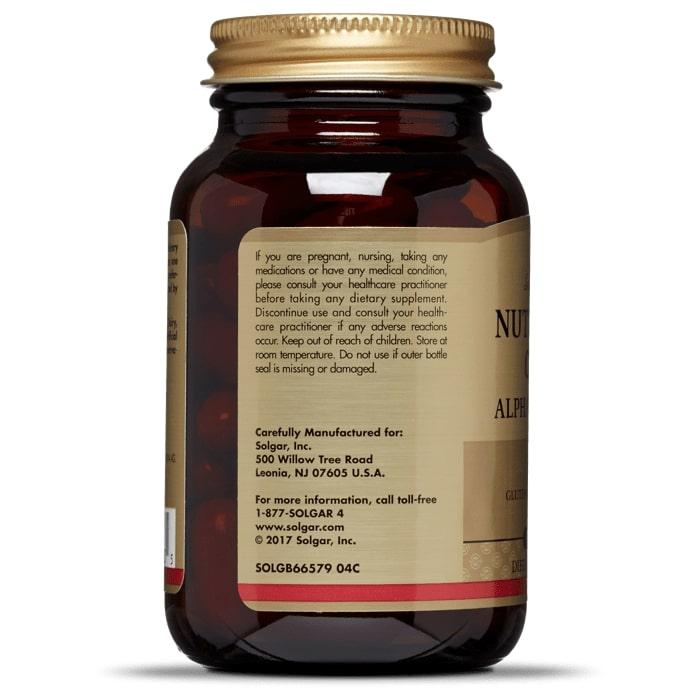 Коэнзим Q10 и Альфа липоевая кислота, Solgar, 60 капсул