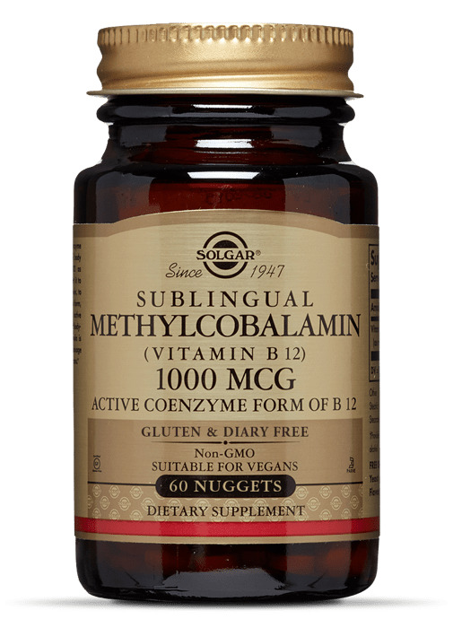 Метилкобаламин (Витамин В12), Solgar, 1000 мкг.