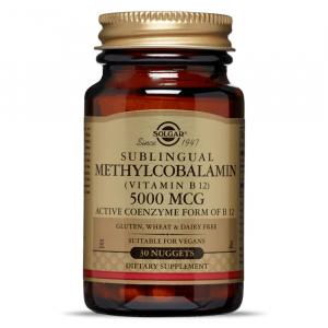 Метилкобаламин (Витамин В12), Solgar, 5000 мкг.