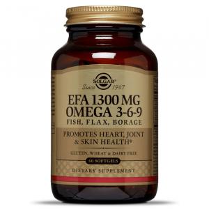 Омега 3-6-9 (EFA 1300 мг), Solgar