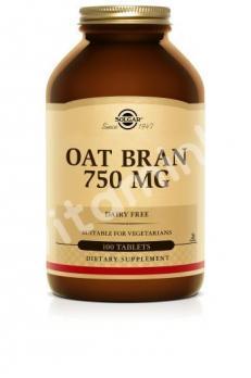 Овсяные волокна, Solgar, 750 мг, 250 таблеток