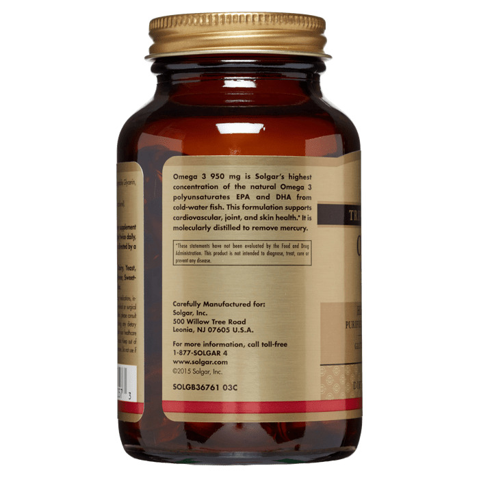 Омега 3, Solgar, 950 мг.