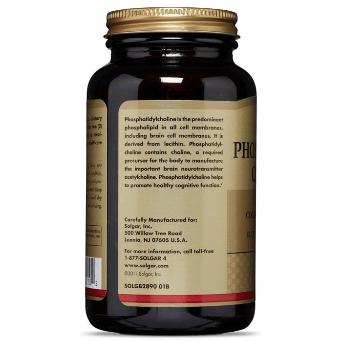 Фосфатидилхолин, Solgar, 420 мг., 100 капсул