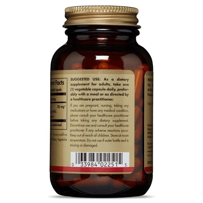 Поликозанол, Solgar, 20 мг, 100 капсул