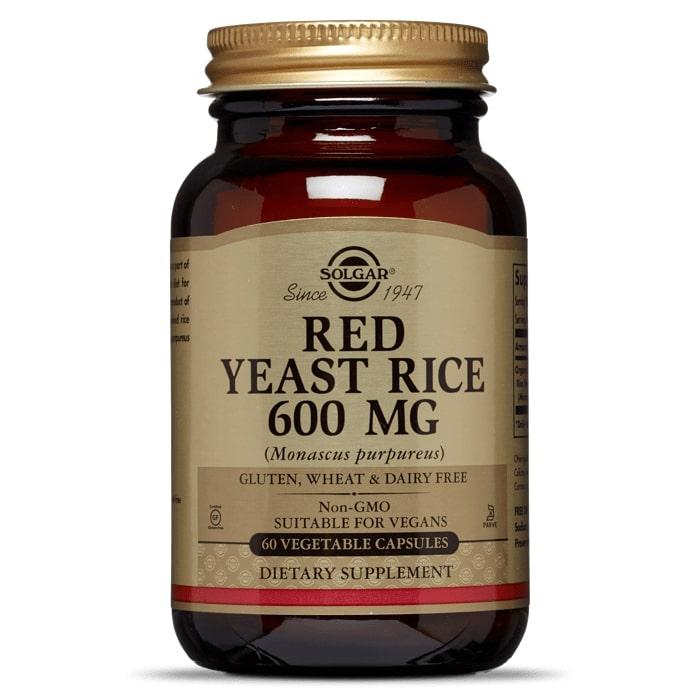 Красный дрожжевой рис, Solgar, 600 мг.