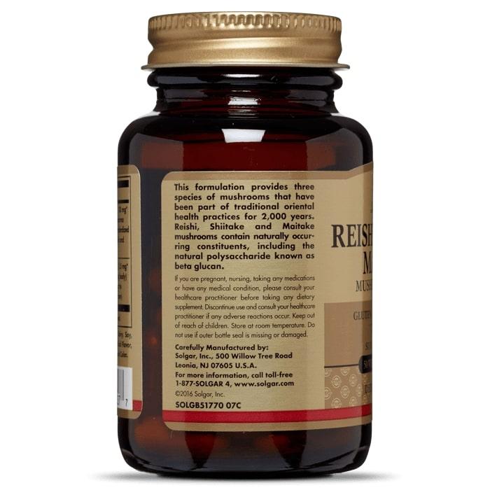 Лечебные грибы рейши, Solgar, 50 капсул