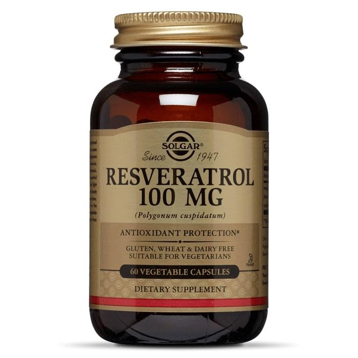 Ресвератрол, Solgar, 100 мг, 60 капсул
