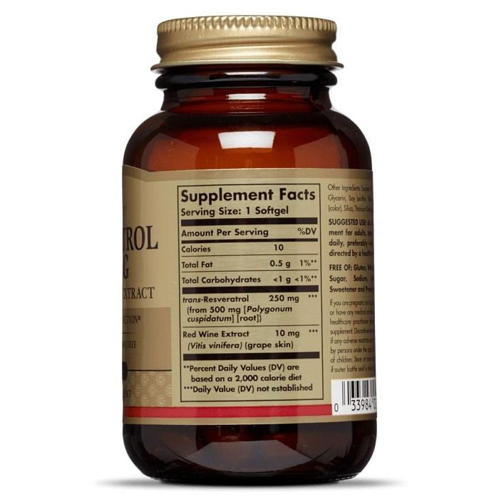 Ресвератрол, Solgar, 250 мг.