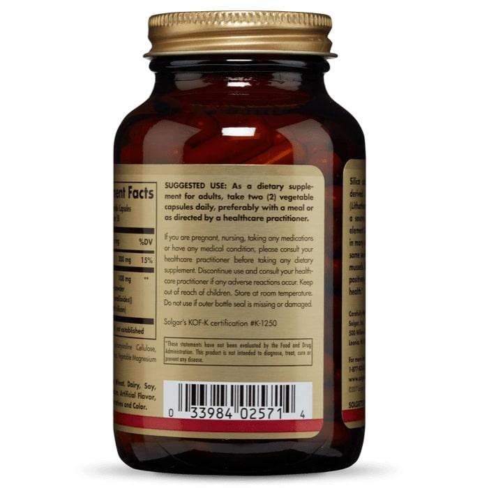 Кремний из красных водорослей, Solgar, 100 капсул