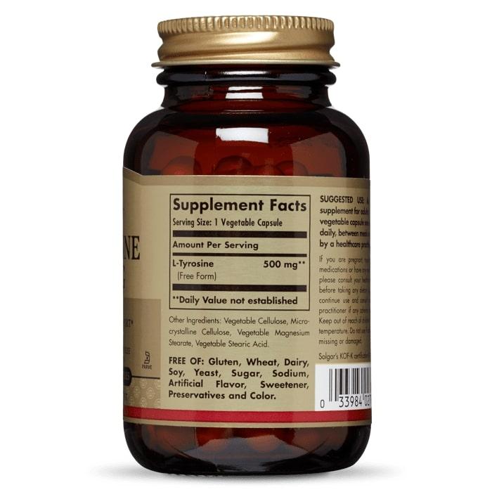 L-Тирозин, Solgar, 500 мг.