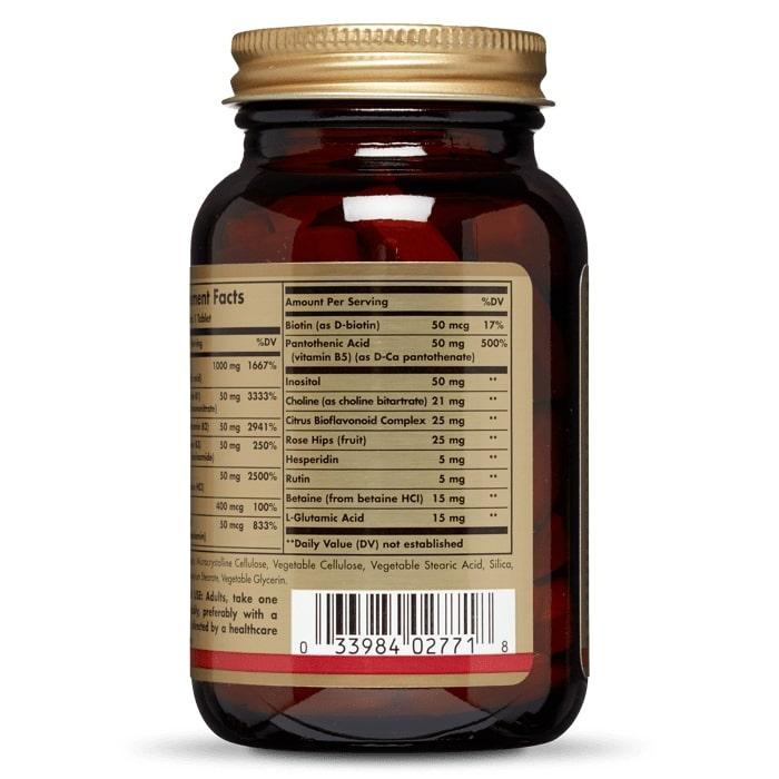 Комплекс витаминов В + С, стресс формула, Solgar