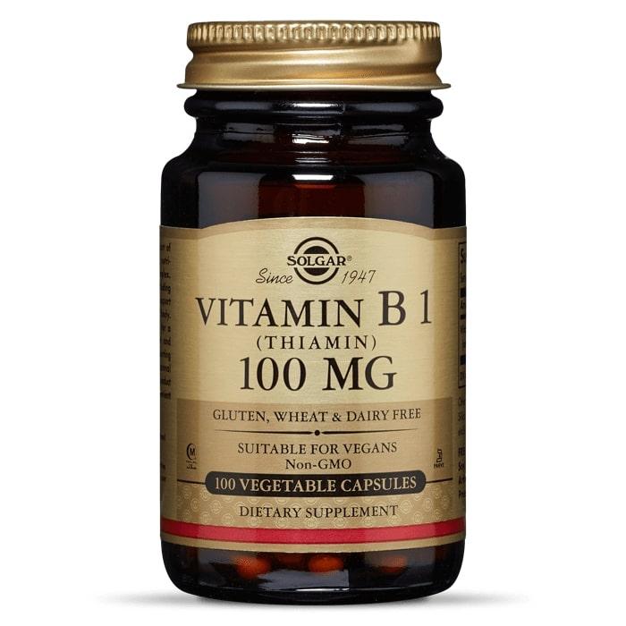 Тиамин, витамин B1, Solgar, 100 мг,100 капсул
