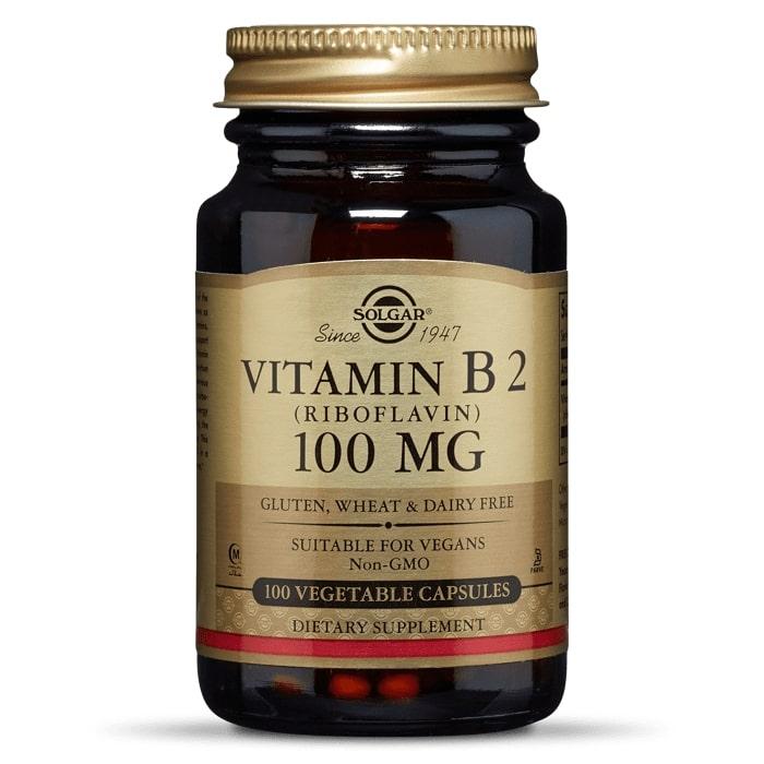 Рибофлавин, витамин B2, Solgar, 100 мг, 100 капсул