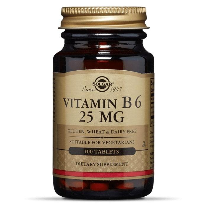 Витамин В6, Solgar, 25 мг, 100 таблеток
