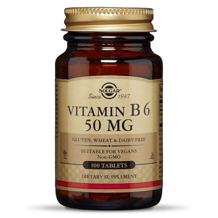 Витамин В6 (пиридоксин), Solgar, 50 мг., 100 таблеток