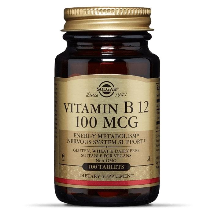 Витамин В12, Solgar, 100 мг, 100 таблеток