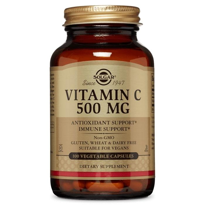 Витамин С, Solgar, 500 мг, 100 капсул