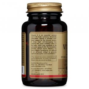 Витамин Е, Solgar, 200 МЕ, 100 капсул