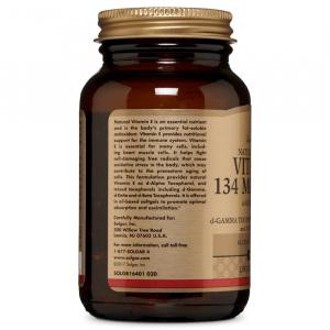 Витамин Е, смесь токоферолов, Solgar, 200 МЕ, 100 капсул