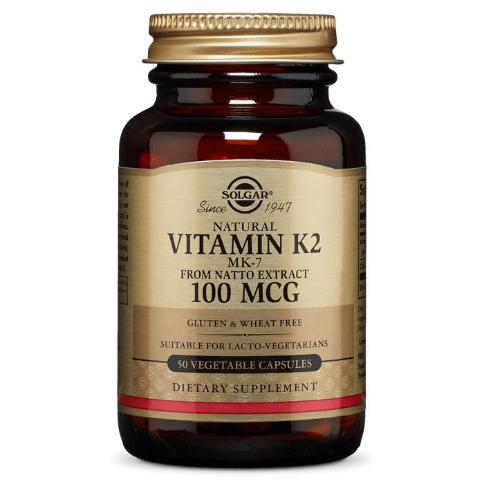 Витамин К2, Solgar, 100 мкг, 50 капсул
