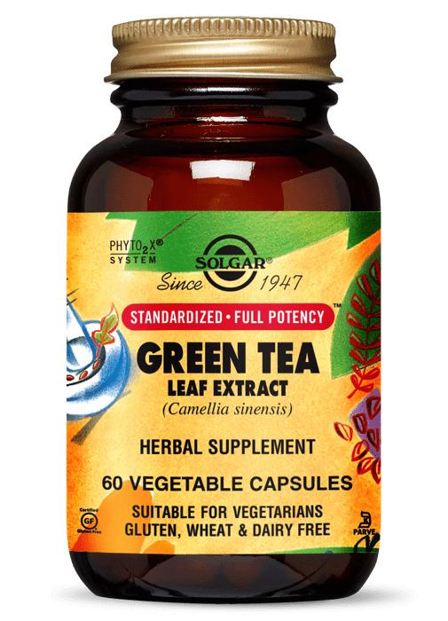 Зеленый чай экстракт, Solgar, 60 капсул