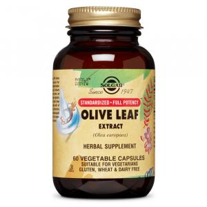 Экстракт листьев оливы, Solgar, 450 мг, 60 капсул