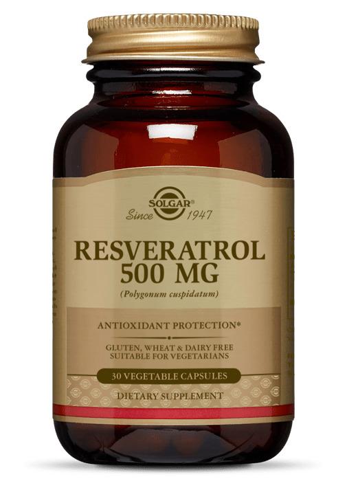 Ресвератрол, Solgar, 500 мг, 30 капсул