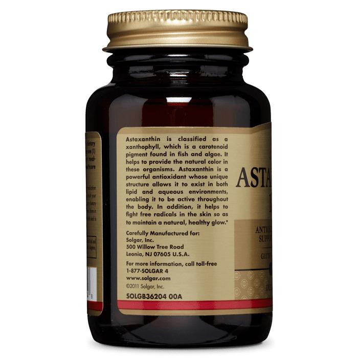 Астаксантин, Solgar, 10 мг, 30 гелевых капсул