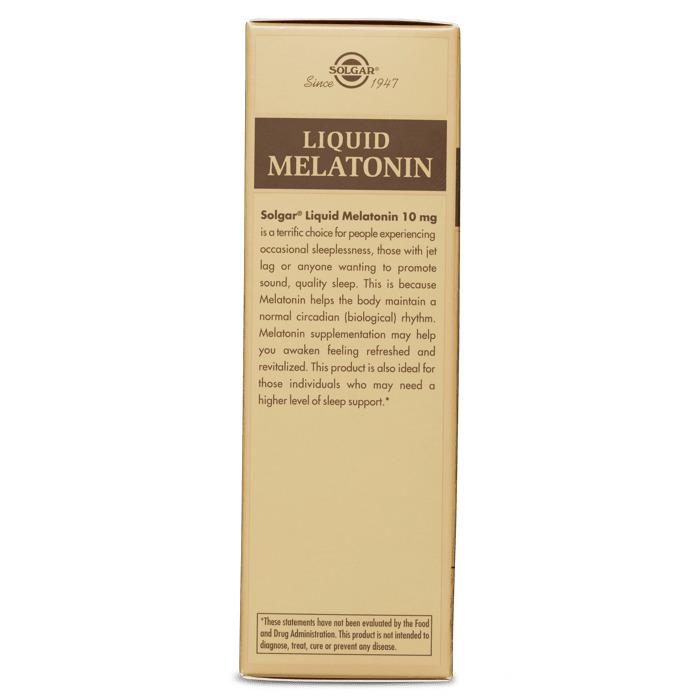 Мелатонин, Solgar, жидкий, 10 мг, 59 мл.