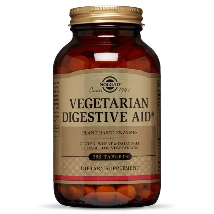 Ферменты для пищеварения, вегетарианские, Solgar, 250 таблеток