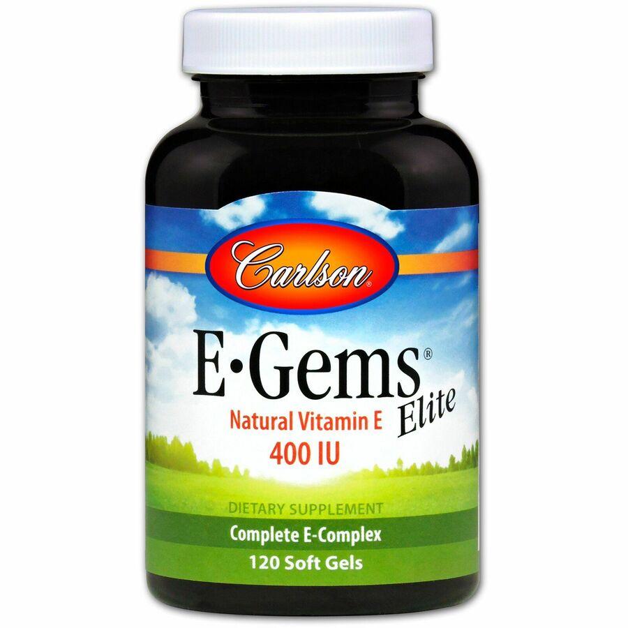 Витамин Е,  E-Gems Elite, Carlson Labs, 400 МЕ, 120 капсул
