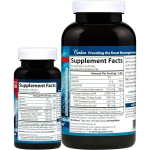 Жир лосося, Carlson Labs, 1000 мг, 180+50 капсул