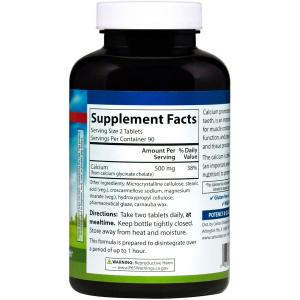 Кальций хелат, Carlson Labs, 250 мг, 180 таблеток