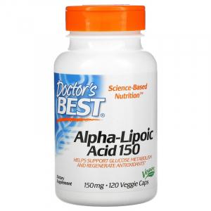 Альфа-липоевая кислота, Doctor's Best, 150 мг, 120 капсул