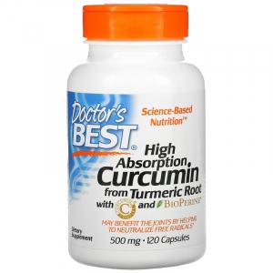 Куркумин С3 комплекс, Doctor's Best, 500 мг, 120 капсул
