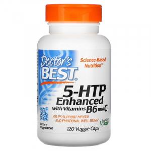 5-гидрокси L-триптофан (5-НТР) с витамином B6 и C, Doctor's Best,120 капсул
