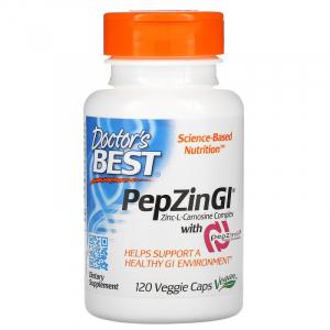 Цинк L-карнозин комплекс, PepZinGI, Doctor's Best, 120 капсул