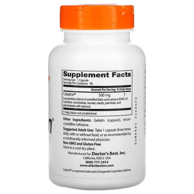 Целадрин, Doctor's Best, 500 мг, 90 капсул