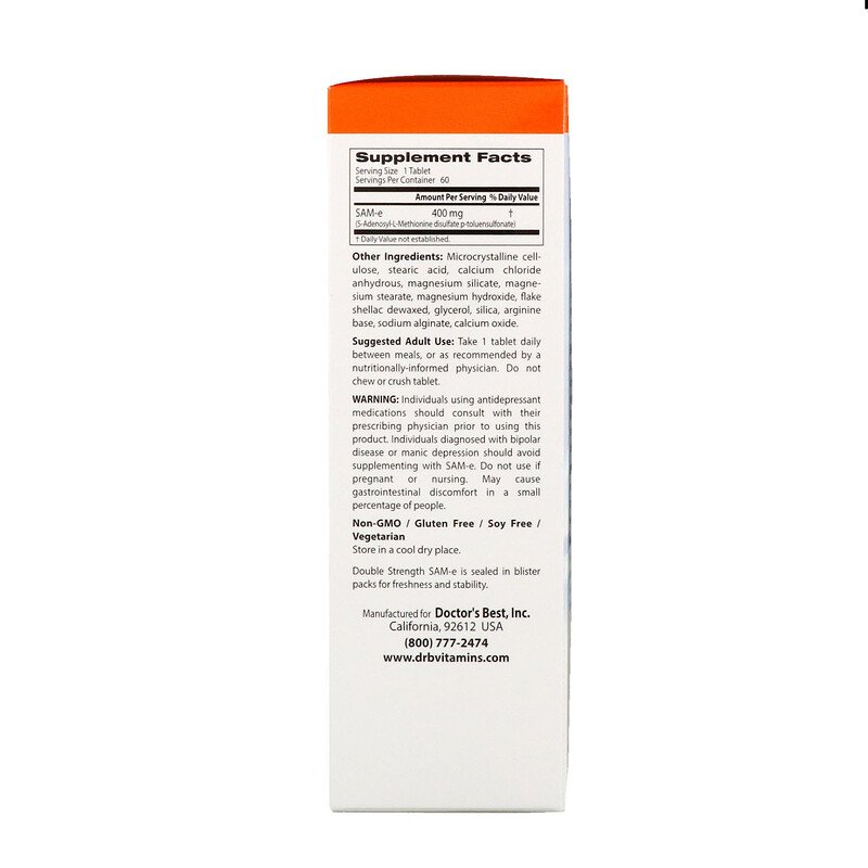 S-Аденозилметионин, SAM-e, 400 мг., Doctor's Best