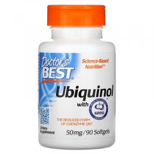 Убихинол, Коэнзим Q10, Doctor's Best, 50 мг, 90 капсул