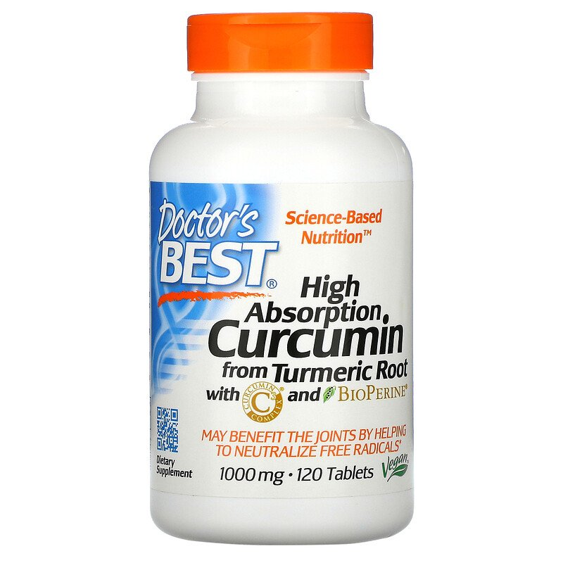 Куркумин С3 комплекс, Doctor's Best, 1000 мг, 120 таблеток