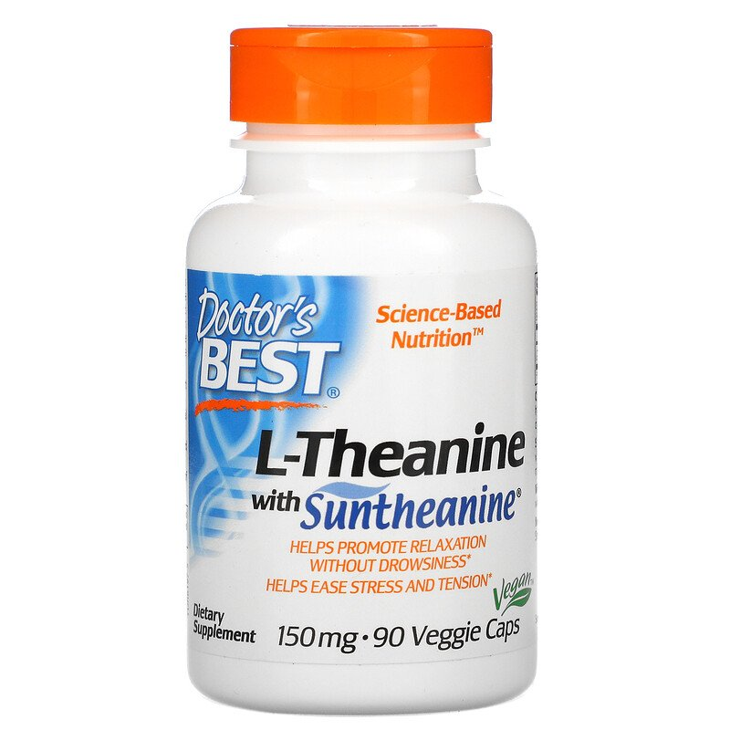 L-Теанин, Doctor's Best, 150 мг, 90 капсул