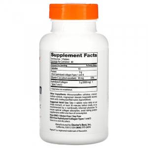 Коллаген тип 1 и 3, Doctors Best,  1000 мг.