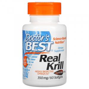 Жир криля, Doctor's Best, 350 мг, 60 капсул