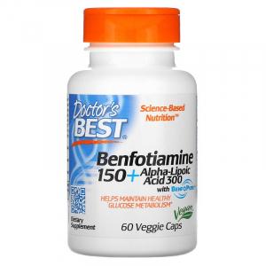 Альфа-липоевая кислота+Бенфотиамин, Doctor's Best, 60 капсул