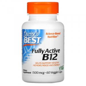 Витамин В12 (метилкобаламин), Doctor's Best, 1500 мкг, 60 капсул