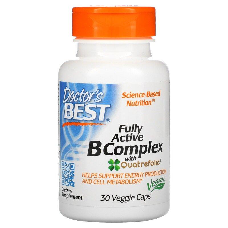 Комплекс витамин В+С, Doctor's Best, 30 капсул