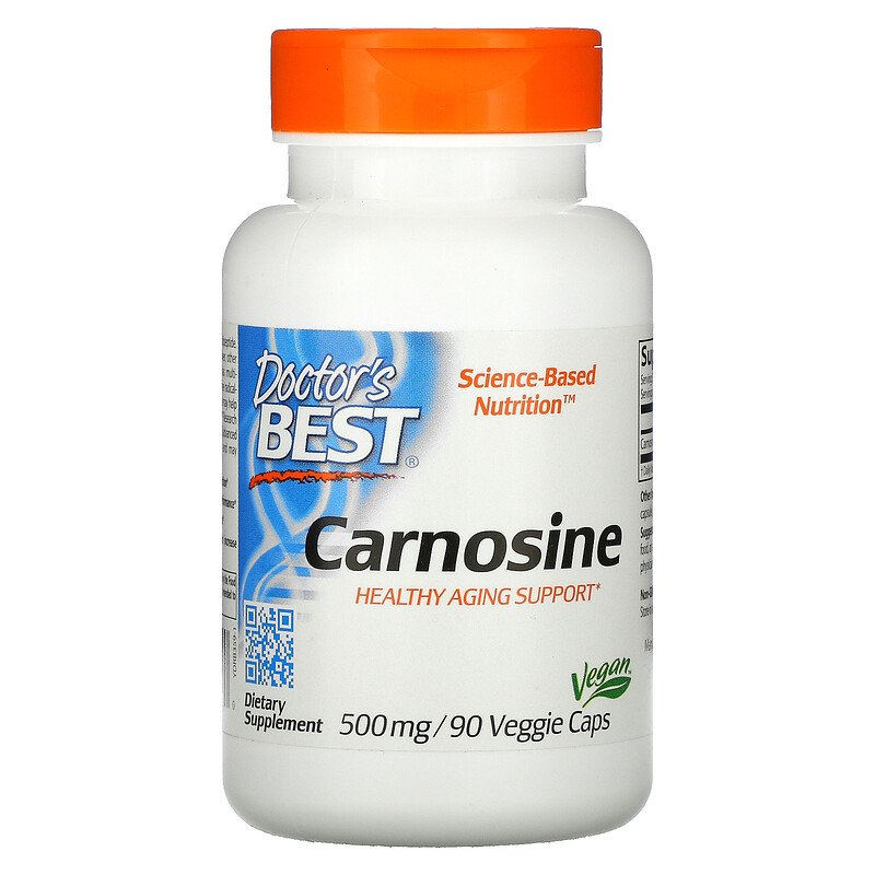 L-карнозин, Doctor's Best, 500 мг, 90 капсул