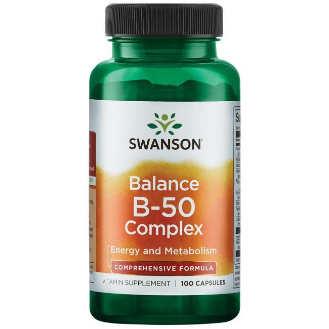 Комплекс витаминов В-50, Swanson, 100 капсул