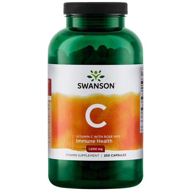 Витамин С с шиповником, Swanson, 1000 мг.